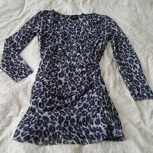 Saks 5th Avenue Leopard Print Supplice Top S